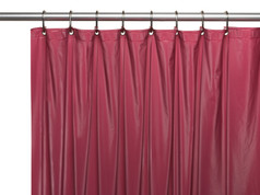 Premium VINYL Shower Curtain Liner - Burgundy