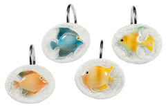Rainbow Fish - Shower Curtain Hooks - set of 12