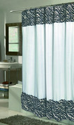 Serengeti Zebra Faux Fur Shower Curtain