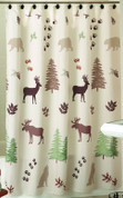 Silhouette Lodge - Fabric Shower Curtain