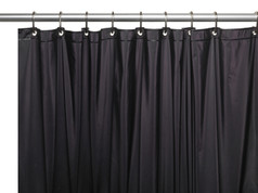 Solid Vinyl Shower Curtain Liner 3 gauge - Black