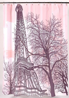 Tour Eiffel Tower Shower Curtain