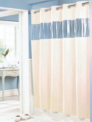 Vision Hookless Vinyl Shower Curtain - Available in White or Beige ...