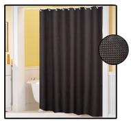Waffle Weave FABRIC Shower Curtain - BLACK