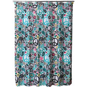 World Peace - Fabric Shower Curtain