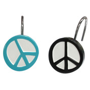World Peace - Shower Curtain Hooks - set of 12