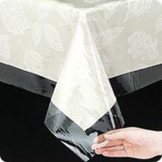 Clear Vinyl Tablecloth - 60x108 Oval
