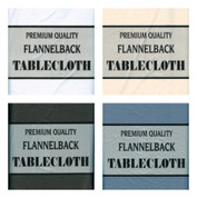 Flannel Back Tablecloth - 52x90