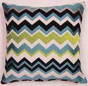 Chevron Throw Pillows (Set of 2) - Aquamarine