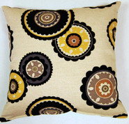 Rumi Throw Pillows (Set of 2) - Ebony