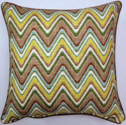 Sand Art Throw Pillows (Set of 2) - Spa