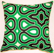 Turtle Shell Throw Pillows (Set of 2) - Malachite