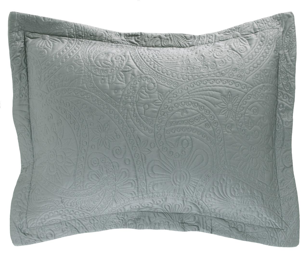 lenore pillow sham silver. Black Bedroom Furniture Sets. Home Design Ideas