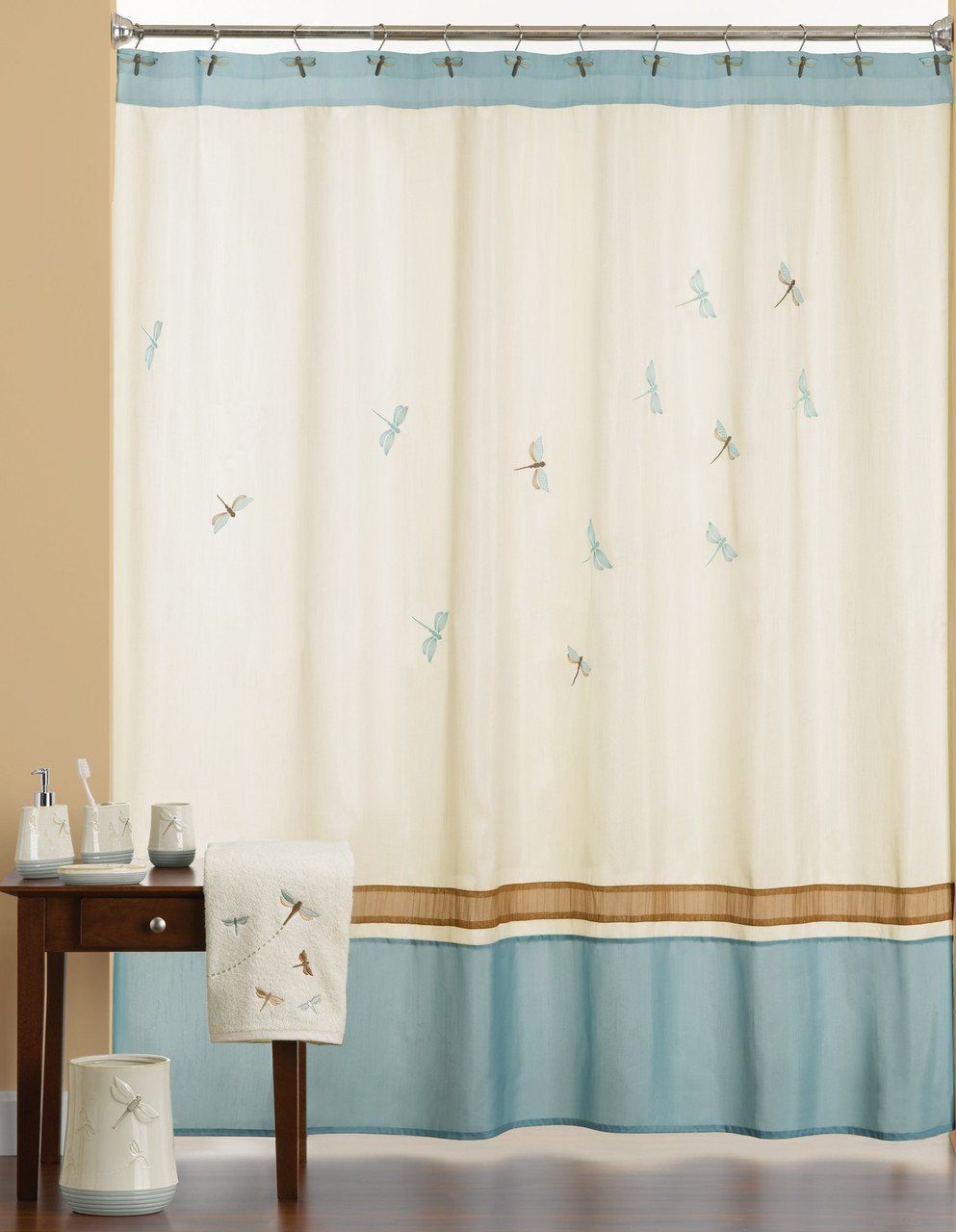 Jocelyn shower curtain and bath accessories collection for Bathroom accessories collection