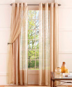 Cosmo Lace Lined Grommet Top Curtain Panels - Available in 9 Colors