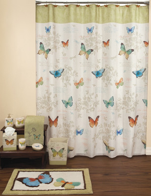 Curtains Ideas butterfly shower curtain : Celestial - Fabric Shower Curtain - Linens4Less.com