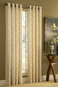 Hudson Embroidered Grommet Top Curtain Panel - Available in 8 Colors