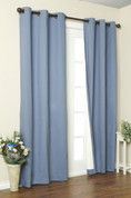 Weathermate Thermologic Grommet Top Curtain pair - Blue