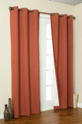 Weathermate Thermologic Grommet Top Curtain pair - Terracotta