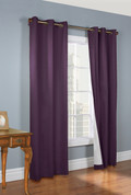 Weathermate Thermologic Grommet Top Curtain pair - Aubergine