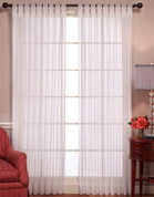 Emelia Sheer Voile Tab Top Curtain Panel  - Available in 2 Colors
