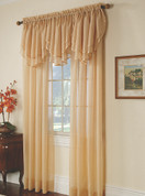 Elegance Sheers Rod Pocket Curtains - Available in White, Ecru, Gold