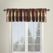 Plaid Valance - BURGUNDY