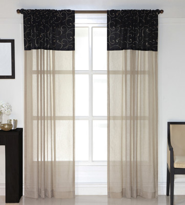Beautiful Westgate Rod Pocket Curtain Panels   Available In Chocolate, Black, Ivory