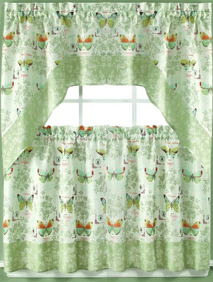 Attrayant Butterfly Bliss Kitchen Curtain