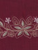 Emelia Embroidered Sheer Kitchen Curtain in burgundy