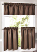 Facets Kitchen Curtains - Available in Chocolate, Green, Taupe, Blue