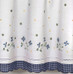 Gingham Floral Kitchen Curtain - Blue