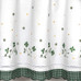 Gingham Floral Kitchen Curtain - Green