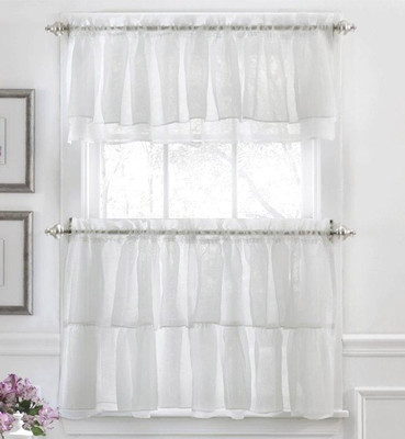White Curtains black and white curtains for kitchen : Kitchen Curtains | Tiers | Swags | Valances | Lace Kitchen Curtains