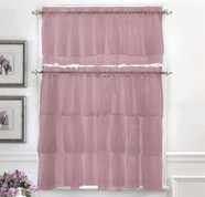Gypsy Ruffled Kitchen Curtain - Lavender