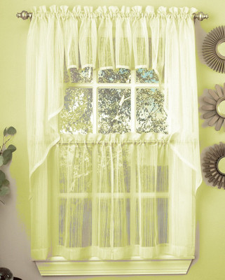 Harmony kitchen curtain pale yellow
