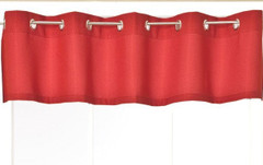 Jackson Grommet Valance - Available in Red, White, Navy, Chocolate