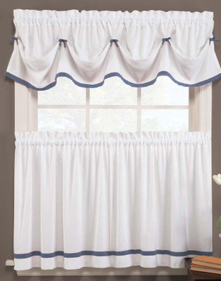 Kate Kitchen Curtain - Blue