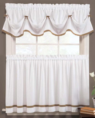 Kate Kitchen Curtain - Taupe