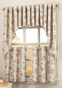 Latte Coffee Grommet Kitchen Curtain