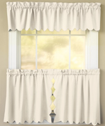 Orleans Tambour Edge Kitchen Curtain - Ecru