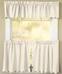 Orleans Tambour Edge Kitchen Curtain - Ecru