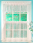 Priscilla Lace Insert Valance - Available in White or Ivory
