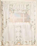 Rosemary embroidered kitchen curtain from Lorraine Home Fashions