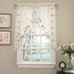 Rosemary embroidered kitchen curtain swag from Lorraine Home Fashions