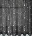 Savannah Embroidered Kitchen Curtain - Black