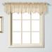 Savannah Embroidered Kitchen Curtain valance - Taupe