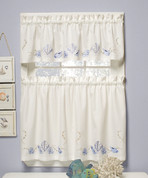 """Seabreeze Embroidered 36"""" tier (pr) - Available in Ocean or Sand"""
