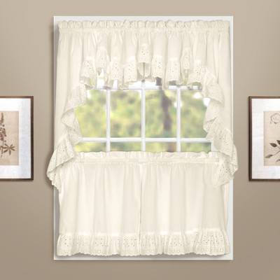 Vienna Eyelet Kitchen Curtain - Natural