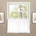 Vienna Eyelet Kitchen Curtain tier - White